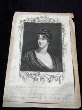 ANTIQUE UNFRAMED OPIE ETCHING PRINT RIGHT HON LADY ELIZABETH WHITBREAD 1808